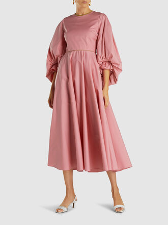 Roksanda - Fife Balloon Sleeve Cotton Midi Dress