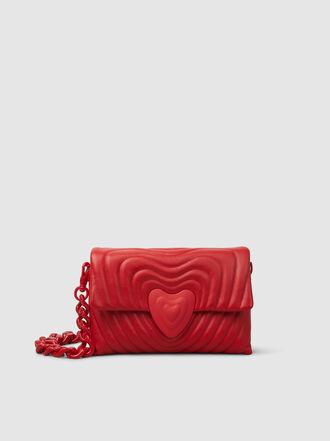 Escada - Heart Leather Chain Strap Leather Bag