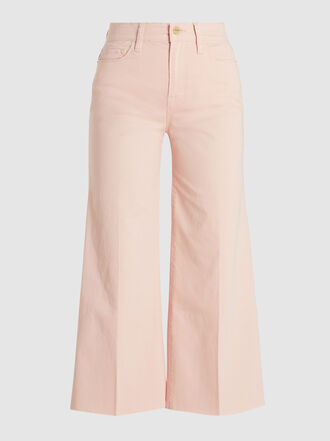 Frame - Vintage Cropped Cotton-Blend Trousers