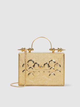 Okhtein - Minaudière Decorative Gold-Plated Brass Box Bag