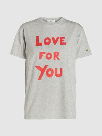 Bella Freud - Love For You Graphic Cotton T-Shirt