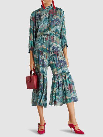 Vilshenko - Alegra Printed Silk Jumpsuit