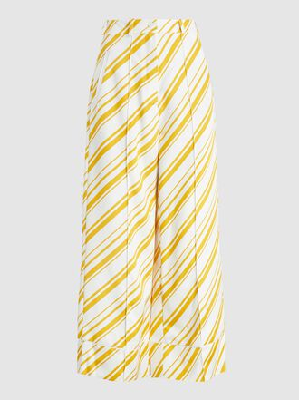 Racil - Desert Striped Crepe Wide-Leg Trousers