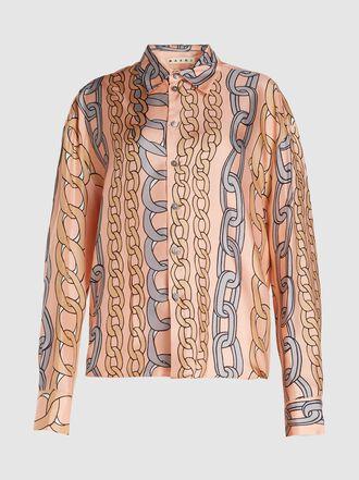 Marni - Chain Print Silk Shirt
