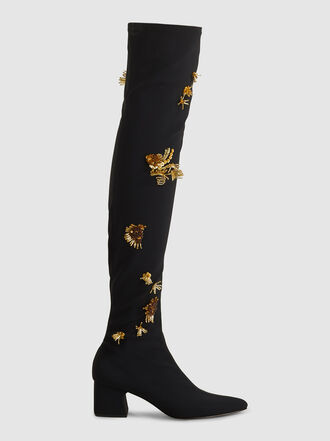 Rachel Comey - Hawks Embroidered Thigh High Neoprene Boots