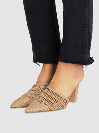 Cult Gaia - Raya Woven Leather Mules