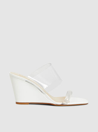 Maryam Nassir Zadeh - Olympia Patent-Leather and PVC Wedge Sandals