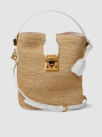 MARK CROSS - Murphy Raffia Bucket Bag
