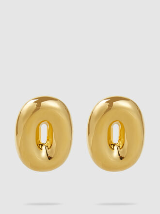 UNCOMMON MATTERS - Torus Gold-Tone Earrings