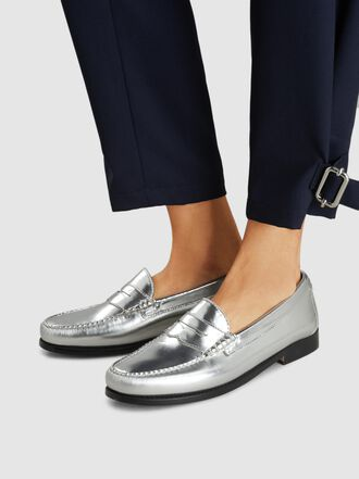 RE/DONE - The Whitney Metallic Leather Loafers