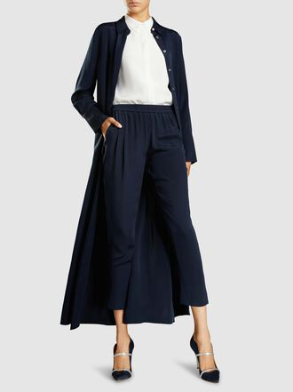 LAYEUR - Silk Sleeveless Button Down Shirt