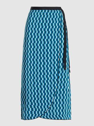 CEFINN - Geometric Print Viscose Wrap Skirt
