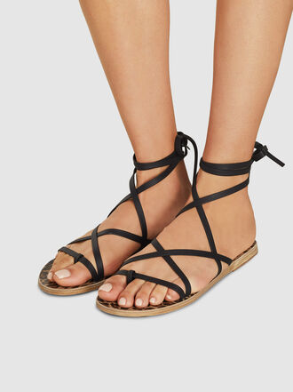 Ancient Greek Sandals - Morfi Wrap Around Leather Sandals
