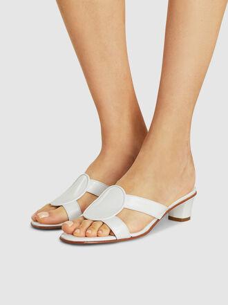 MARTINIANO - Medallia Leather Kitten Heel Sandals