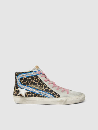 Golden Goose Deluxe Brand - Leopard Print High Top Leather Sneakers