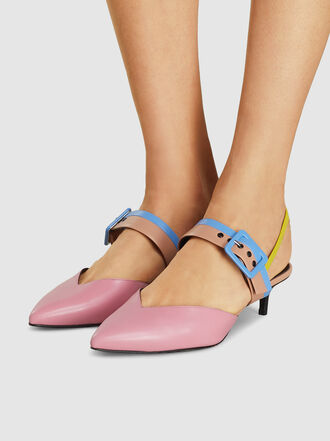 Pierre Hardy - Pastel Colour Block Kitten Heel Pumps