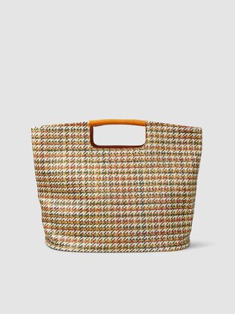 Simon Miller - Birch Large Woven Houndstooth Tote Bag
