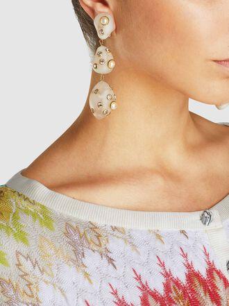 Vanda Jacintho - Pearly Crystal Artsy Earrings