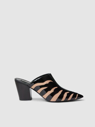 Matteo Mars - Tigre Heeled Leather Mules