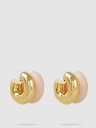 UNCOMMON MATTERS - Billow Gold-Tone Acrylic Earrings