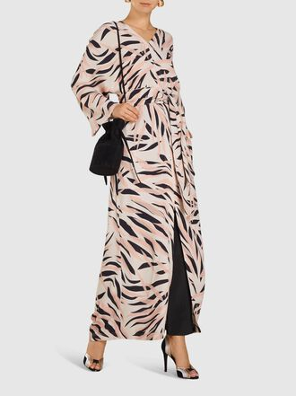 LAYEUR - Claudetta Dolman Sleeve Crepe Maxi Dress