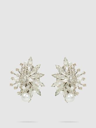 ERICKSON BEAMON - Leaf Studded Pearl Earrings