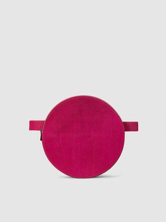 Solace London - Sona Round Calf Hair Belt Bag