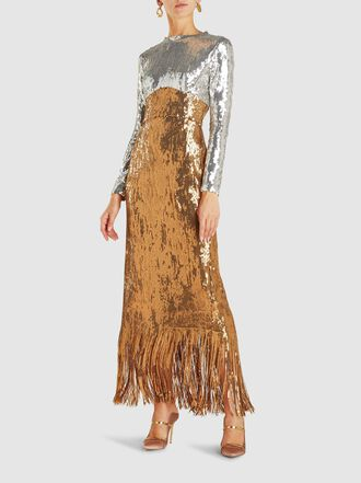 Rachel Comey - Converge Crewneck Metallic Sequinned Dress