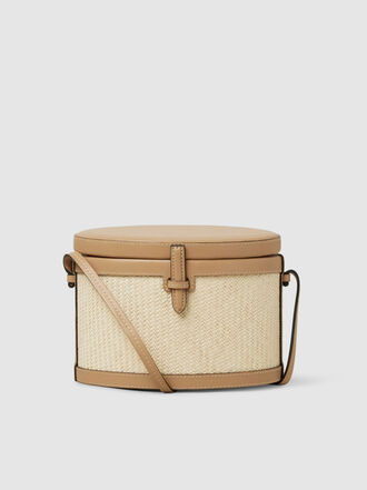 HUNTING SEASON - Raffia and Leather Trunk Bag