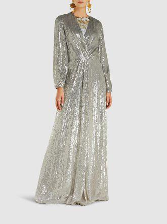 Jenny Packham - Tasman Degrade Sequin Silk Gown
