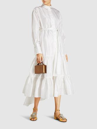 Taller Marmo - Meringa Ruffled Silk-Satin Midi Dress