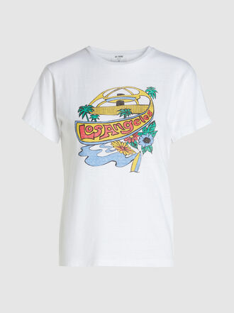 RE/DONE - 'Los Angeles' Printed Classic Cotton T-shirt