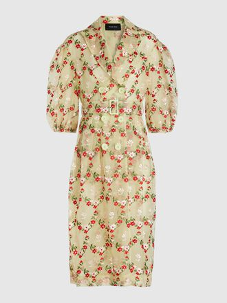 Simone Rocha - Floral-Embroidered Tulle Coat
