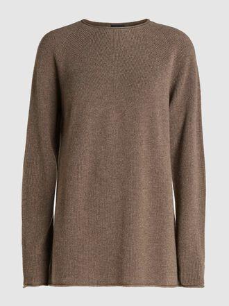 Joseph - Rolled-Edge Cashmere Tunic Sweater