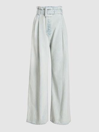 Proenza Schouler - Acid Wash High-Rise Denim Trousers