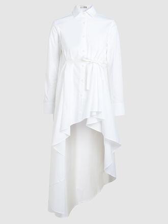 Palmer//Harding - Waterfall Hem Stretch-Cotton Shirt