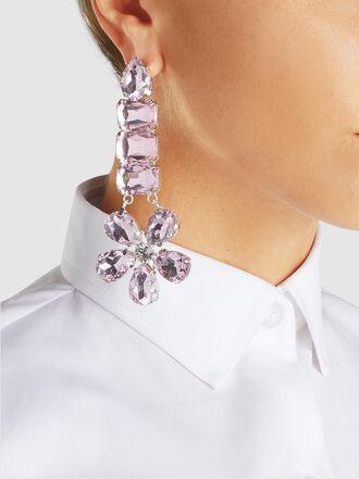 Dima Ayad - Dima Ayad x Nilly Jewelry Glass Flower Drop Earrings