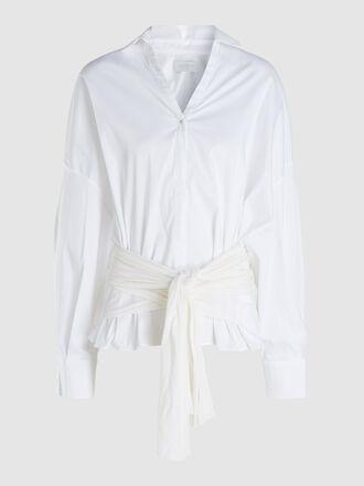 Esteban Cortazar - Oversized Belted Cotton Shirt