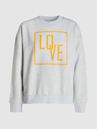 Baum und Pferdgarten - January Love-Print Cotton-Blend Sweatshirt