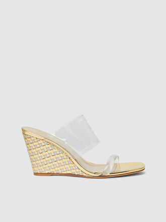 Maryam Nassir Zadeh - Olympia Leather and PVC Wedge Sandals