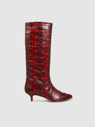 Tibi - Hart Snake Print Leather Boots