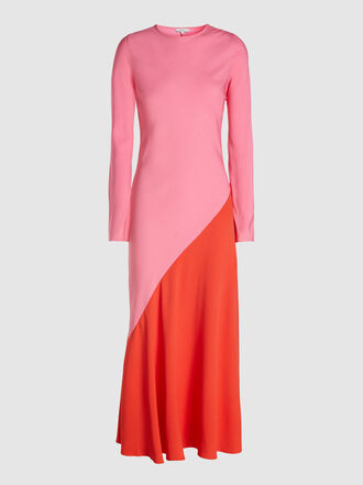 LAYEUR - Cecelia Long Sleeves Bias Cut Dress