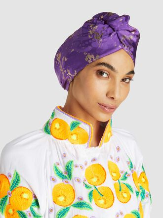 Taller Marmo - One Of Those Nights Silk-Blend Turban