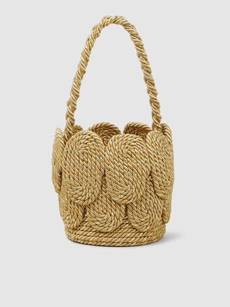 MEHRY MU - Cha Cha Mini Shell Silk Rope Bag