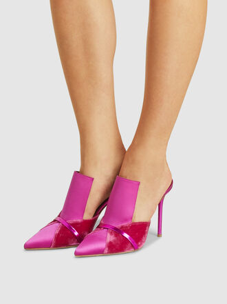Malone Souliers - Danielle Satin and Velvet Mules