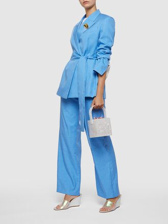 Maggie Marilyn - Go Better Pinstriped Twill Trousers