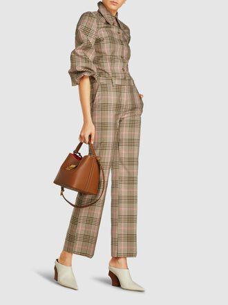Baum und Pferdgarten - Bonny Camel Checked Cotton-Blend Shirt