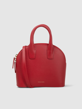 Mansur Gavriel - Mini Top Handle Rounded Leather Bag