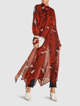 PETAR PETROV - Delamr Snake Print Chiffon Dress