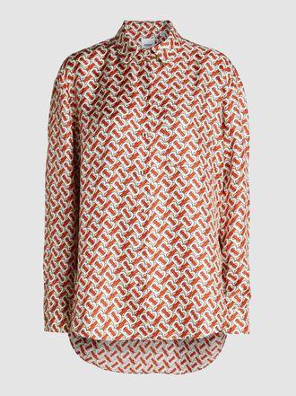 Burberry - Logo-Print Silk Shirt
